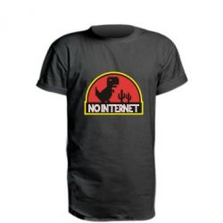Удлиненная футболка No internet jurassic world