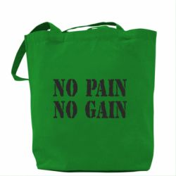 Сумка No pain no gain logo