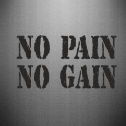 Наклейка No pain no gain logo