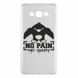 Чехол для Samsung A7 2015 No pain no gain пингвин