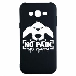Чехол для Samsung J7 2015 No pain no gain пингвин