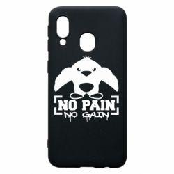 Чехол для Samsung A40 No pain no gain пингвин
