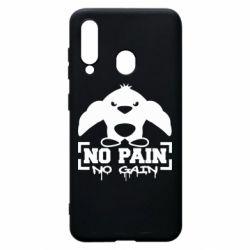 Чехол для Samsung A60 No pain no gain пингвин