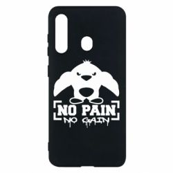Чехол для Samsung M40 No pain no gain пингвин