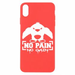 Чехол для iPhone X/Xs No pain no gain пингвин