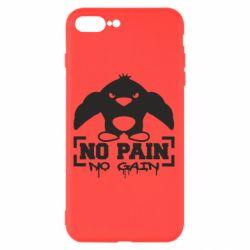 Чехол для iPhone 7 Plus No pain no gain пингвин