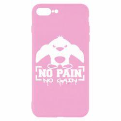 Чехол для iPhone 8 Plus No pain no gain пингвин