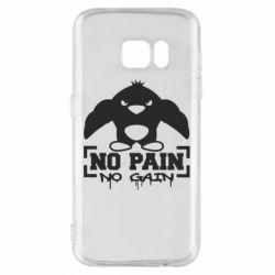Чехол для Samsung S7 No pain no gain пингвин
