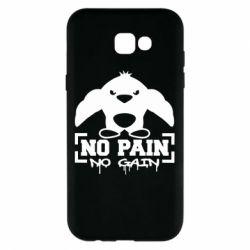 Чехол для Samsung A7 2017 No pain no gain пингвин