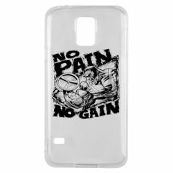 Чехол для Samsung S5 No pain, no gain