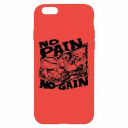 Чехол для iPhone 6/6S No pain, no gain