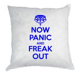 Подушка NO PANIC and FREAK OUT