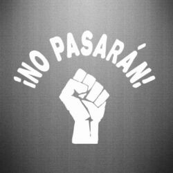 Наклейка No Pasaran - FatLine