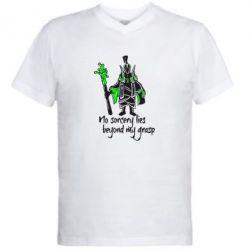 Мужская футболка  с V-образным вырезом no sorcery lies beyond my grasp - FatLine