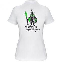 Женская футболка поло no sorcery lies beyond my grasp - FatLine