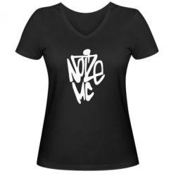 Женская футболка с V-образным вырезом Noize MC - FatLine