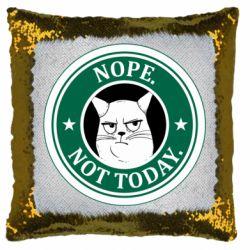 Подушка-хамелеон Nope not today