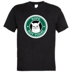 Мужская футболка  с V-образным вырезом Nope not today