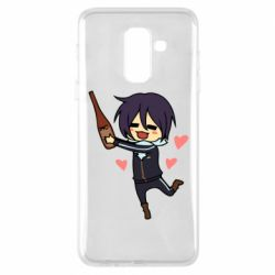 Чохол для Samsung A6+ 2018 Noragami and drink