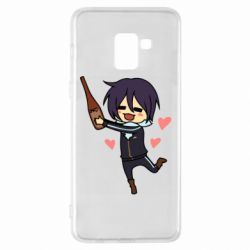 Чохол для Samsung A8+ 2018 Noragami and drink