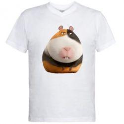 Мужская футболка  с V-образным вырезом Norman - FatLine