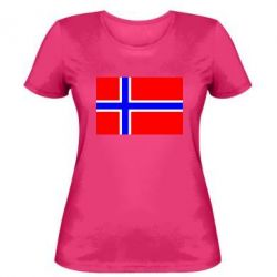 Женская футболка Норвегия - FatLine