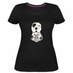 Женская стрейчевая футболка Not a monster