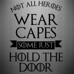 Наклейка Not all heroes wear capes