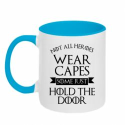 Кружка двухцветная 320ml Not all heroes wear capes