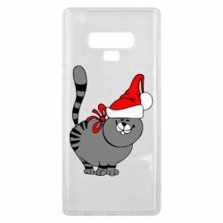 Чохол для Samsung Note 9 Новорічний коте