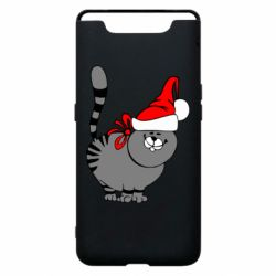 Чехол для Samsung A80 Новогодний котэ