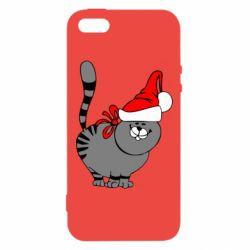 Чехол для iPhone5/5S/SE Новогодний котэ