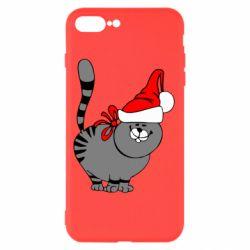 Чехол для iPhone 8 Plus Новогодний котэ