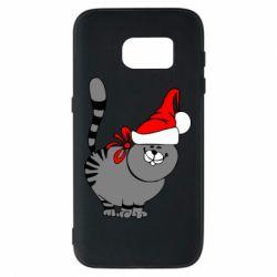 Чехол для Samsung S7 Новогодний котэ