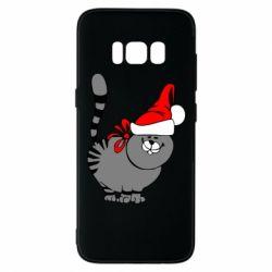 Чехол для Samsung S8 Новогодний котэ