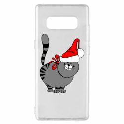 Чохол для Samsung Note 8 Новорічний коте