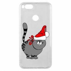 Чохол для Xiaomi Mi A1 Новорічний коте