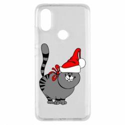 Чохол для Xiaomi Mi A2 Новорічний коте