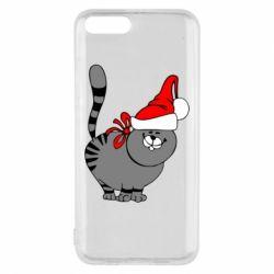 Чохол для Xiaomi Mi6 Новорічний коте