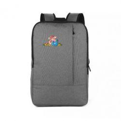 Рюкзак для ноутбука Новорічна свиня з келихом шампанського