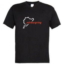 Мужская футболка  с V-образным вырезом Nurburgring - FatLine