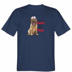 Мужская футболка Nurse loves pugs