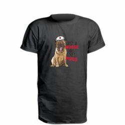 Удлиненная футболка Nurse loves pugs