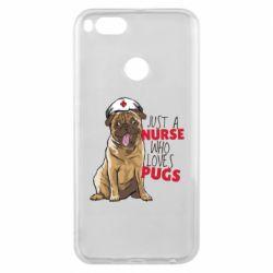 Чехол для Xiaomi Mi A1 Nurse loves pugs
