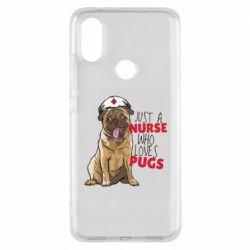 Чехол для Xiaomi Mi A2 Nurse loves pugs