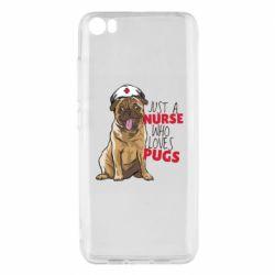 Чехол для Xiaomi Mi5/Mi5 Pro Nurse loves pugs
