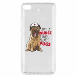 Чехол для Xiaomi Mi 5s Nurse loves pugs