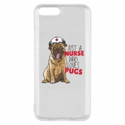 Чехол для Xiaomi Mi6 Nurse loves pugs