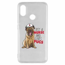Чехол для Xiaomi Mi8 Nurse loves pugs
