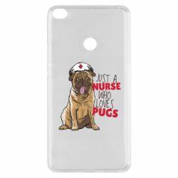 Чехол для Xiaomi Mi Max 2 Nurse loves pugs